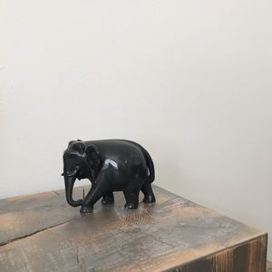 Vintage Stone Elephant Figurine